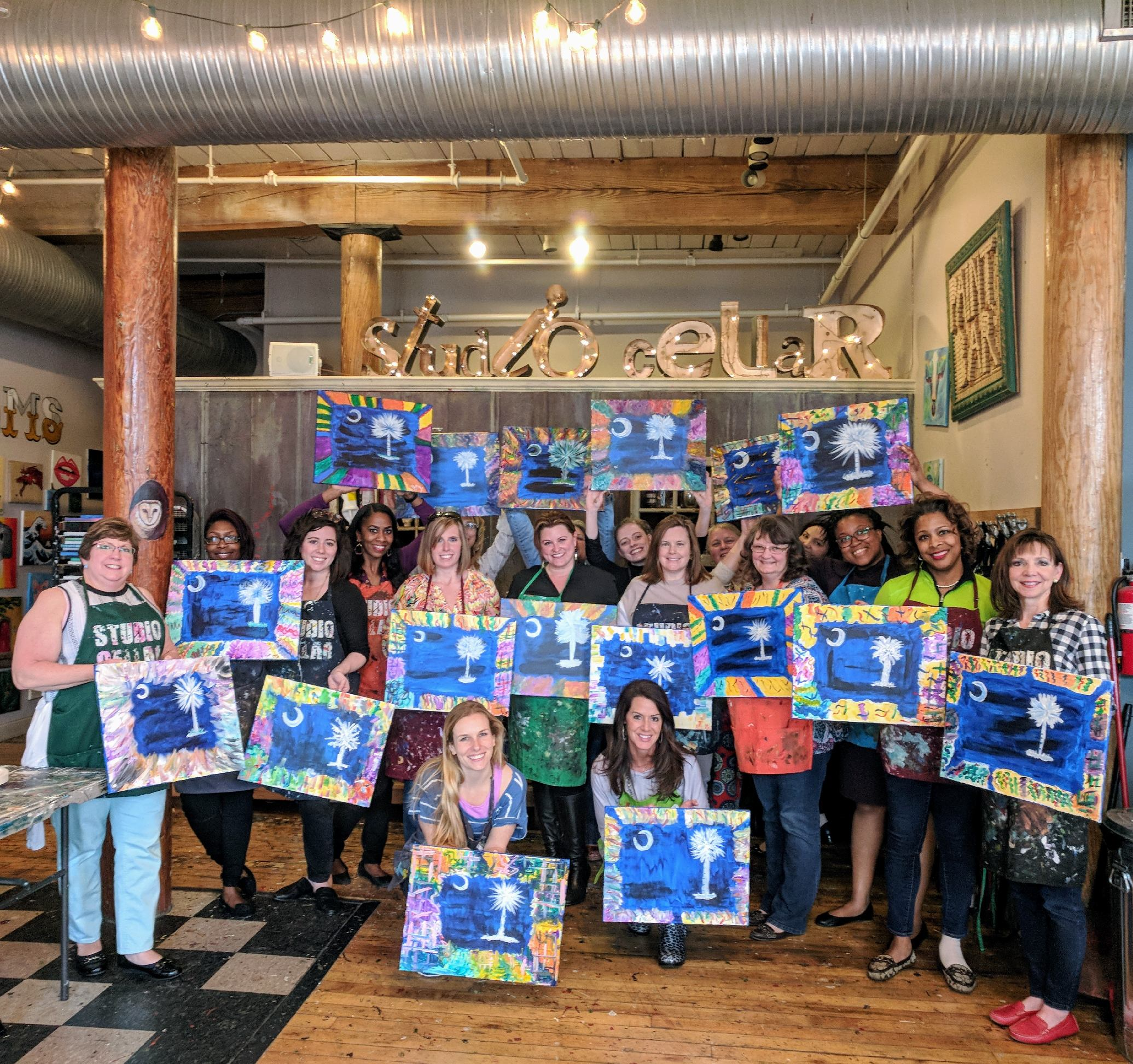 Studio Cellar Art And Wine Best Paint And Sip Event Venue